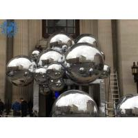 Buy cheap Decorative silver color PVC Mirror Balls Inflatable Reflective Balloon For wedding party from wholesalers
