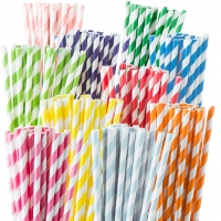 Buy cheap Christmas Drinking Black And White Rainbow Biodegradable Paper Straws from wholesalers