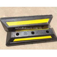 Buy cheap Yellow And Black Molded Rubber Products , Truck Wheel Chocks For Vehicle Parking from wholesalers