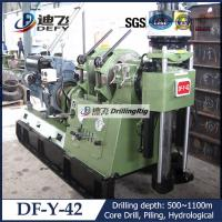 Buy cheap DF-Y-42T trailer mounted geological core drill rig from wholesalers