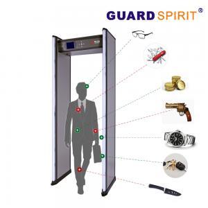 Buy cheap 2 columns LED Metal Detector 18 detecting zones Walk Through Metal Detector from Wholesalers