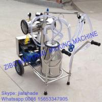 Buy cheap Vacuum Pump Typed Single Bucket Mobile Milking Machine from wholesalers