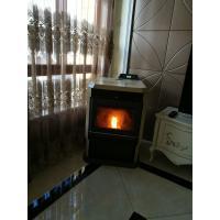 Well Designed Wood Burning Pellet Stove Big Window View Smart Control
