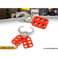 Buy cheap Red Safety Lock Out  Six Holes Vinyl Coated 1 Inch / 1.5 Inch Lock Shackle from wholesalers