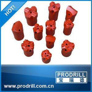China Tungsten Carbide Insert 7~12 Degree Dia. 30~44mm Taper Button Cross Chisel Bit on sale