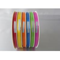 Buy cheap Beautiful 4 / 6 channel wrapping ribbon 5mm , 10mm width for mixed color products packing from wholesalers