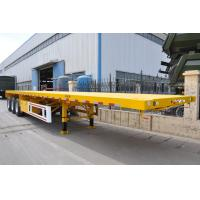 Buy cheap Heavy Duty Tri Axle Dump Truck , 50 Ton Flatbed Semi Truck Trailer For Container from wholesalers