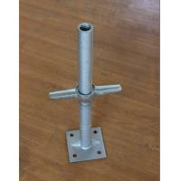 Buy cheap Galvanized Adjustable Steel Scaffolding Leveling Hollow Base Jacks used in construction for Middle East market from wholesalers