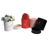 Buy cheap CMYK 300gsm PMS Corrugated Kraft Flower Box With Lids from wholesalers
