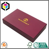 Buy cheap Matte Red Color Paper Gift Box for Wallet; Gold Foil Logo Rigid Paper Box from wholesalers