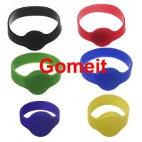 Buy cheap Smart  Custom Rfid Tag Wristband , Rfid Enabled Wristbands High Temperature Endurable from wholesalers