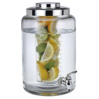 Buy cheap SGS/FDA 2 in one,6.3L cold glass beverage dispenser with ice infuser eco-friendly from wholesalers