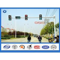 Buy cheap 8 Sides 1 Arm Hot dip Galvanized street sign pole , AWS D 1.1 Welding Standard traffic sign posts from wholesalers