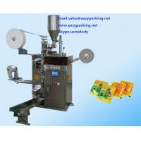 China Automatic filter tea bag packaging machine with string,tag and envelop on sale
