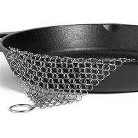 Buy cheap 6'' X 8'' Stainless Steel Chainmail Scrubber , Cast Iron Pan Cleaner from wholesalers