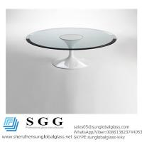 Buy cheap CE& SGS certificated Excellence quality bevelled edge table top glass from wholesalers