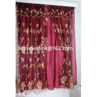 Buy cheap flower embroidery organza curtain, organza curtain from wholesalers