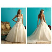 Luxury Simple Ball Gown Wedding Dresses , Big Satin Wedding Ball Gown