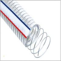 Buy cheap Light PVC Plastic Garden Hose Spiral Steel Wire Reinforced Water Hose Plastic Flexible PVC Duct Hose from wholesalers