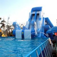 Buy cheap china cheap inflatables backyard swimming pool water slides ,red and blue inflatable waterslides from wholesalers