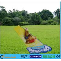 Buy cheap OEM Inflatable Summer Water Slides Small Space PVC Colorful Print Slip N Slide from wholesalers