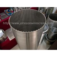 Buy cheap Rod Based Tubular Wire Wrapped Screen For Food Processors Stainless Steel Material from wholesalers