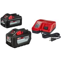 Buy cheap Milwaukee M18 18-Volt Lithium-Ion High Output Battery Pack 12.0 Ah and Rapid Charger Starter Kit With Free 6.0 Ah Batter from wholesalers