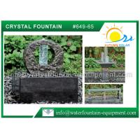 Buy cheap 100% Nature Stone Feng Shui Garden Fountain With Crystal Glass Column     from wholesalers