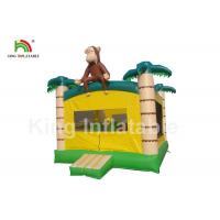 Buy cheap Palm Tree Yellow Inflatable Kids Jumping Castle With Step And Mesh from wholesalers