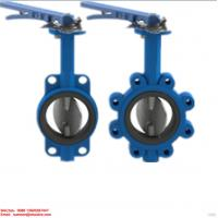 Buy cheap GG25/GG20 cast iron manual exhaust lug wafer type butterfly valve handles for cement from wholesalers