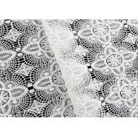 Buy cheap Floral Schiffli Guipure Lace Fabrics With Chemical Poly Milk Fiber SGS Approval from wholesalers