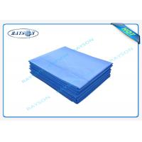 Buy cheap 100% Virgin Polypropylene Blue Disposable Bed Sheet For Hospital from wholesalers