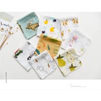 Buy cheap Custom Printed Pure Cotton Handkerchiefs 100% Cotton 2 Layer Soft Feel Printed Baby Bibs Face Towel from wholesalers