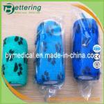 Buy cheap Paw printing animal cohesive bandage pet bandage veterinary self adhesive bandage from wholesalers