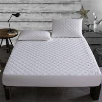 Buy cheap Brushed Fabric Quilted Waterproof Mattress Pad Cover Fitted Mattress waterproof bed Sheet Matress bed protection from wholesalers