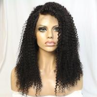China stock 14 inch 100% virgin remy kinky curly full lace wig afro kinky human hair wig, afro kinky curly full lace wigs baby hair on sale