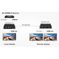 Buy cheap 4K 60Hz HDMI2.0 HDBaseT Extender and Dual screen sync output from wholesalers
