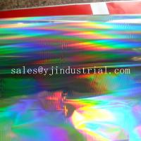 Buy cheap High quality PET holographic lamiantion film & transfer film with seamless rainbow pattern from wholesalers