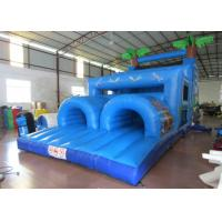Buy cheap Inflatable Outdoor Obstacle Course Bounce House , Blow Up Obstacle Course 12 X 4 X 5m from wholesalers