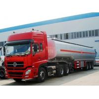 Buy cheap dongfeng tuel tanker semir trailer with tractor , 45m3 fuel tanker truck from wholesalers