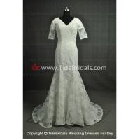 Buy cheap NEW!!! Short sleeves Mermaid wedding dress Bridal evening gown #AS9137 from wholesalers