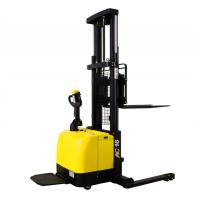 Buy cheap Wide Legs1.6 Ton Electric Pallet Stacker Forklift 280AH Battery Charged from wholesalers
