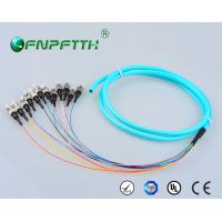 Buy cheap OM3 Mode 12Core Type Fibre optic pigtail , ST Pigtail Connectors SC , LC , FC from wholesalers