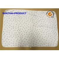 Buy cheap Chenille Plush Baby Blankets Round Corner Big Dots All Over Print SGS Approved from wholesalers