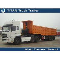 Buy cheap Garden , cargo ,  Landscape side / End dump trailer with Hydraulic Cylinder Lifting system from wholesalers