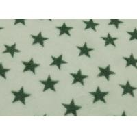 Buy cheap White Fleece Fabric Star Design , 100 Polyester Fleece Fabric Flame Retardant from wholesalers