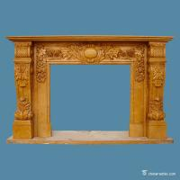Buy cheap Yellow Marble Stone Fireplace Surrounds European Style Corrosion Resistance from wholesalers