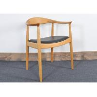 Buy cheap Vintage Hans Wegner Wooden Restaurant Chair With Upholstered Leather Seat from wholesalers
