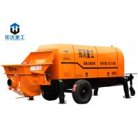 Buy cheap HBT8018 Trailer Mounted Concrete Pump Alloy Eye Plate 132 KW Motor Power from wholesalers