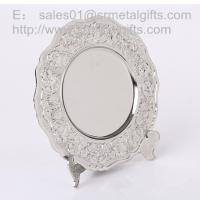 Buy cheap Metal crafted Silver collectible souvenir plate with display stand, metal gifts and crafts from wholesalers
